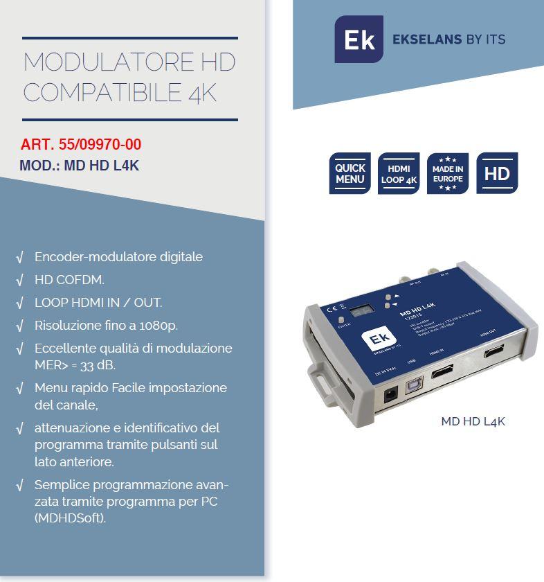 Modulatore compatibile 4K EK